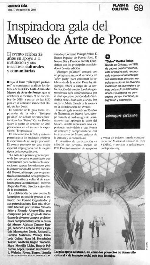 Inspiradora gala del Museo de Arte de Ponce