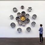 Chrome Lotus (Car Rims on Wall)