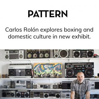 Carlos Rolón explores boxing and domestic culture in new exhibit